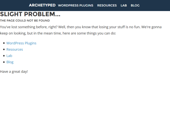 Ugly 404 Page