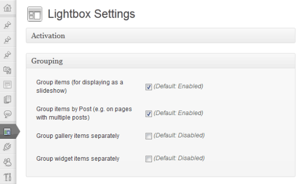 Modular admin page