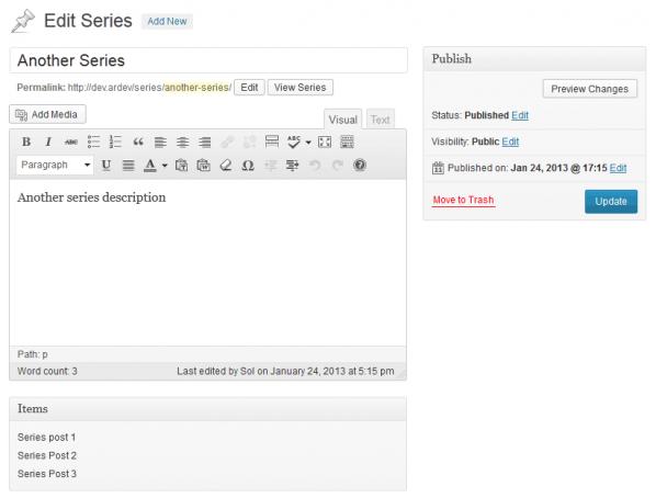 Series editor