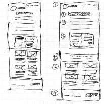 Thumbnail Sketch: Blog Page