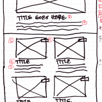 Wireframe Sketch: Featured/Grid