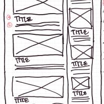 Wireframe Sketch: 2 Column