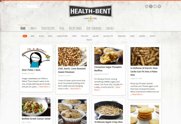 Health Bent home page