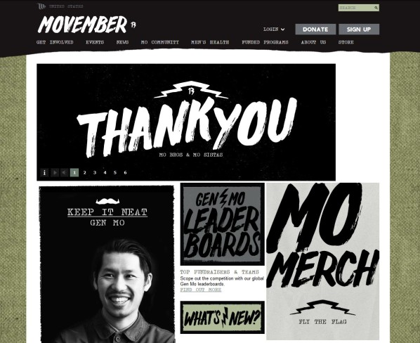 Movember home page