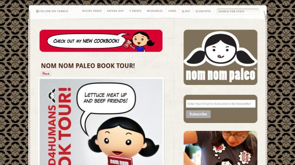 Nom Nom Paleo home page