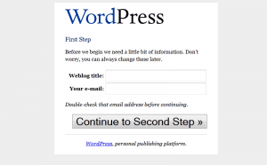 WordPress 1.5 Installation: Step 1