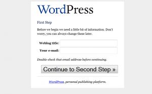 WordPress 1.5 Installation: Step 1