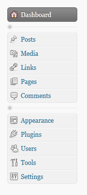 WordPress 2.7 admin icons