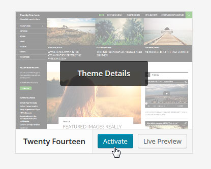 Activate Twenty-Fourteen Theme